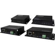 Comprehensive® HDBaseT Over 230' Twisted Pair HDMI RS-232 Extender, Black