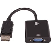 V7® DisplayPort Male to HD-15 Female VGA Adapter, Black