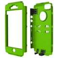 Trident™ Kraken AMS Exoskeleton Carrying Case With Holster For iPhone 5/5S, Green