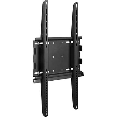 Telehook Universal Fixed-Portrait TV Wall Mount For Flat Panel Displays Upto 154 lbs., Black