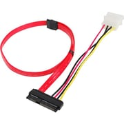 Siig® 1.48' SFF-8482 to SATA Cable With LP4 Power, Red