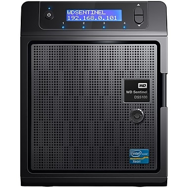 WD® Sentinel DS5100 Ultra-Compact 8TB USB 2.0/USB 3.0 NAS Server W/Server 2012 R2 Essentials (Black)
