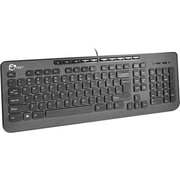 Siig® JK-US0712-S1 USB 1.1 Compact Multimedia Wired Keyboard, Black
