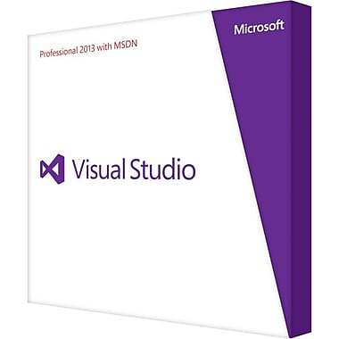 Microsoft® 79D-00326 Visual Studio 2013 Professional Software With MSDN, 1 User