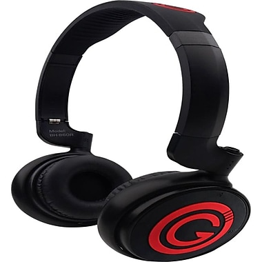 G-Cube BH-860 Hits Master Over The Head Bluetooth v3.0 Headphones, Red/Black