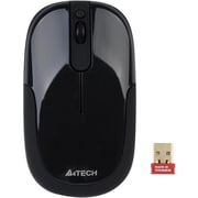 A4Tech® 4 Button 2.4 GHz Wireless DustFree HD Mouse, Black