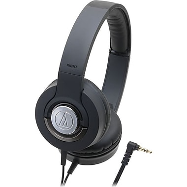 Audio-Technica® WS33X Solid Bass Closed Back Over Head Dynamic Headphones, Black