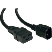 Tripp Lite P047-010 10' IEC-60320-C19 to IEC-60320-C14 Heavy Duty Power Cord, Black