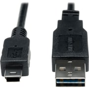 Tripp Lite 6' USB 2.0 A Male to USB 2.0 5-pin Mini B Male USB Cable, Black