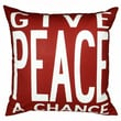 Uptown Artworks Peace Pillow; Red