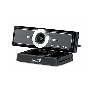 Genius WideCam F100 Ultra Wide Angle Webcam, 1080P HD, 12 MP
