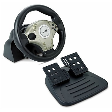 Genius Twin Wheel F1 Vibration Feedback F1 Racing Wheel For PS2 & PC
