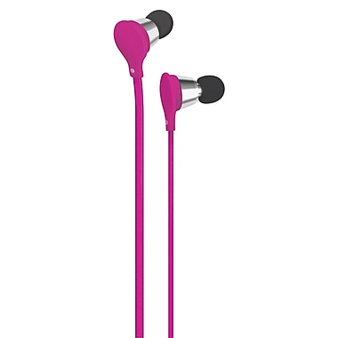 AT&T Jive Music + Calls Earbud With In-Line Mic, Pink