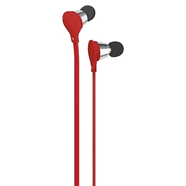 AT&T Jive Music + Calls Earbud With In-Line Mic, Red