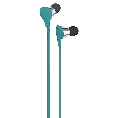 AT&T Jive Music + Calls Earbud With In-Line Mic, Turquoise