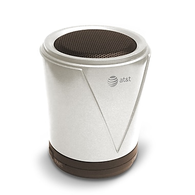 AT&T Hot Joe Portable Bluetooth Speaker, White