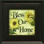 "Bless Our Home, Framed, 6"" x 6"""