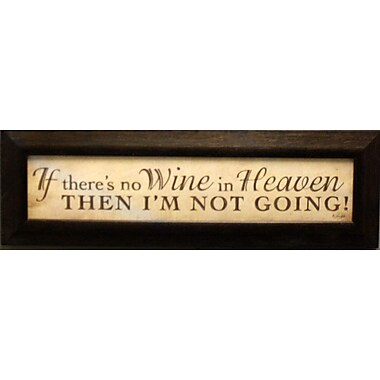 No Wine In Heaven, Framed, 4
