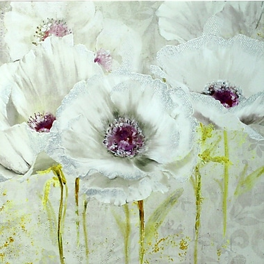 White Poppies A, Canvas, 24