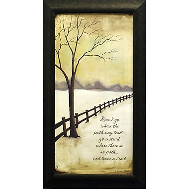 Leave A Trail, Framed, 9