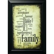 Family, avec cadre, 12 po x 18 po