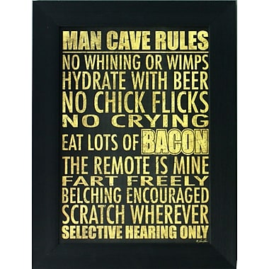 Man Cave Rules, Framed, 12