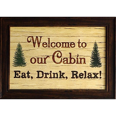 Welcome To Our Cabin, Framed, 12
