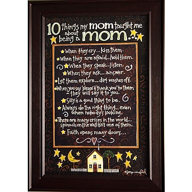 Reminders From Mom, Framed, 12