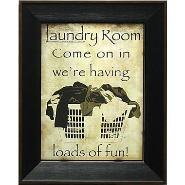 Laundry Loads Of Fun, Framed, 12