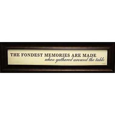 The Fondest Memories, Framed, 6