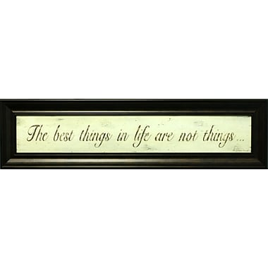 Best Things In Life, Framed, 6