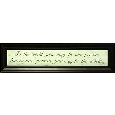 To The World, Framed, 6
