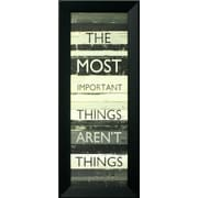 "Best Things In Life, Framed, 12"" x 36"""