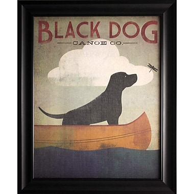 Black Dog Canoe, Framed, 22