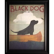 "Black Dog Canoe, Framed, 22"" x 28"""