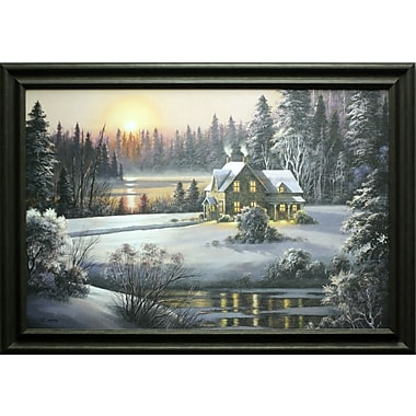 Winter Sunset, Framed, 24