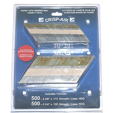 Crisp-Air Strip Nails, Smooth Brite, 2-3/8