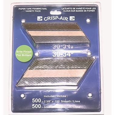 Crisp-Air Strip Nails, Smooth HDG, 2-3/8