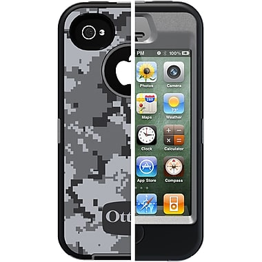 OtterBox™ Defender Realtree® Case W/Holster For iPhone 4 & 4S, Gray/AP Pink Came