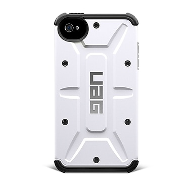 Urban Armor Gear Navigator Composite Hybrid Case For iPhone 4 & 4S, White/Black