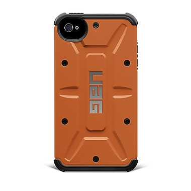 Urban Armor Gear Outland Composite Hybrid Case For iPhone 4 & 4S, Rust/Black