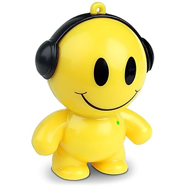 Mobi® Beatz Buddiez™ 2 W Smiley Character Mini Speaker, Yellow