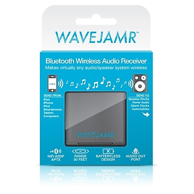 RadTech® WaveJamr Bluetooth Wireless Speaker Dock Adapter For Speakers & Sound Systems, Slate Gray
