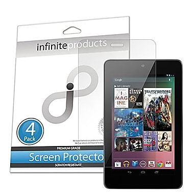 Infinite Products VectorGuard Screen Protector Film For Asus Google Nexus 7, Clear, 4/Pack