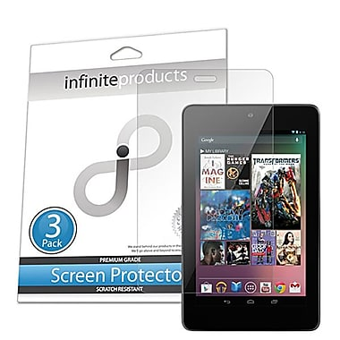 Infinite Products IP00667 Anti Microbial Screen Protector Film For Asus Google Nexus 7, 3/Pack