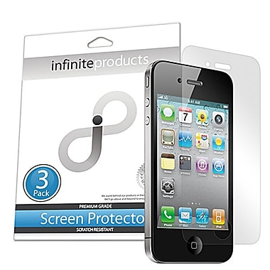 Infinite Products Self-Healing Screen Protector Film For iPhone 4 & 4S, 3/Pack