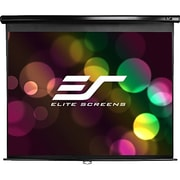 Elite Screens® Manual 142 Projection Screen, 2.35:1, Black Casing