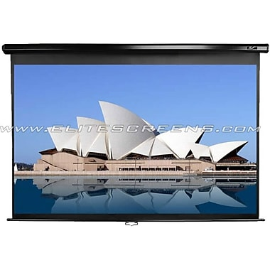 Elite Screens® Manual 114in. Projection Screen, 2.35:1, Black Casing