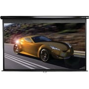 Elite Screens® Manual 128 Projection Screen, 2.35:1, Black Casing