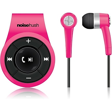 NoiseHush® NS560 Clip-on Bluetooth Stereo Headset, Pink